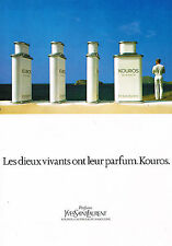 PUBLICITE ADVERTISING 014   1983   YVES SAINT LAURENT  parfum  KOUROS