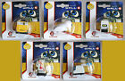 RARE LOT X 5 WALL E MINI FIGURES ROBOT EVE M O PAINTBOT DICKIE DISNEY NEW MOSC !