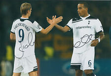 Roman PAVLYUCHENKO Tom HUDDLESTONE Double Signed Autograph 12x8 Photo AFTAL COA