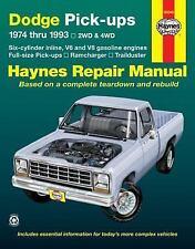 Haynes Dodge P/U 1974-1993 2/4WD,Ramcharger,Trailduster,6 Cyl Inline,V8,V6