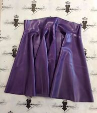 R069 Rubber Latex *PS PURPLE*  Westward Bound Skating Skirt 8 UK CHEERLEADER