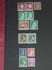 Germany (Adolf Hitler) stamps all mint & overprinted 1 used (i do combine p&p)