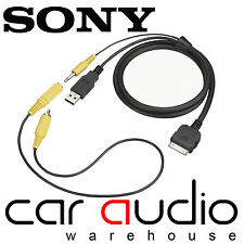 Genuine XNV XAV SONY RC-202IPV Car Stereo iPod iPhone USB Audio Video Cable Lead