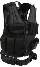 black vest tactical cross draw adjustable molle modular rothco 6491