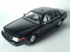 CLASSIC METAL WORKS ford police interceptor 1:24 black undercover car