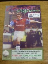 15/05/1994 Play-Off Semi-final división 2: Plymouth Argyle (arrugada Burnley V).