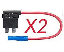 ADD A CIRCUIT STANDARD BLADE FUSE HOLDER PIGGYBACK FUSE CAR X2