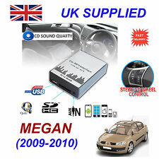 MEGANE 3 2009-10 mp3 USB SD CD AUX Input Adattatore Audio Digitale Caricatore CD Modulo