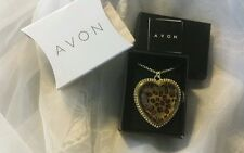 """New By Avon Gorgeous Heart Necklace Long Adjustable Chain 32"""" Katherine Necklace"""