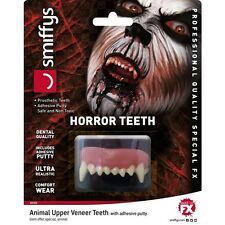 Unisex Realistic FX Horror Animal Upper Veneer Teeth Halloween Fancy Dress