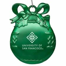 University of San Francisco - Pewter Christmas Tree Ornament - Green