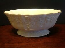 "Vintage Lenox Holiday Hostess Centerpiece Bowl Made In The U.S.A 11"" Wide Oval"