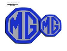 MG ZR LE500 MK2 Front & Rear Insert Badge Logo Set 59mm/95mm Blue/Sil