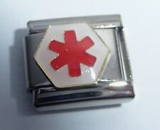 MEDICAL ALERT SYMBOL Italian Charm - fits 9mm Classic Starter Bracelets Warning
