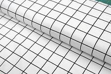 Jersey - Baumwolljersey - Stoff - Gitter weiß schwarz 25cm x 150cm -