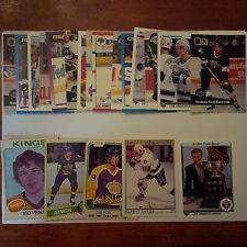 Los Angeles Kings Lot of 25 cards - 70's/80's Cards, Kings Heros, Rookie Cards