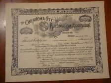 Oklahoma City Building and Loan Association 1923 Stock Loan Installment