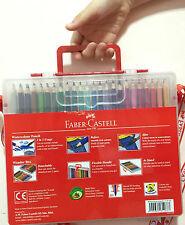 NEW Faber-Castell 48 Watercolour Pencils +Brush,2B Pencil,Sharpener in WonderBox