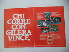 advertising Pubblicità 1988 MOTO GILERA MX1 125/KZ 125/XR1 XR 1