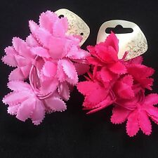 Confezione da 2 rosa floreale capelli chignon Anelli elastici in tessuto Fiore Fascia Elastico