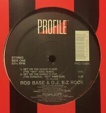 "ROB BASE & D.J. E-Z Rock Get On The Dance Floor 12"" Profile"