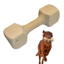 Dumbbell Shape Wood Pet Dog Chew Toys Medium Large Dog Training Bite Tool