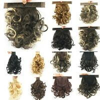 New Women Short Curly Ponytail Warp Lady Hairpiece Clip In Hair Extensions M70