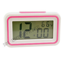 Talking Alarm Digital LCD Table Desk Car Calendar Clock with Temperature