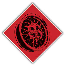 bbs alloy wheel warning decal / sticker 100x100mm
