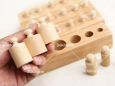 Montessori Wood Block Game Sensorial Material Small Knot Cylinder Family Set