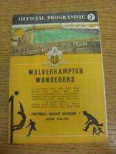 26/12/1960 Wolverhampton Wanderers v Aston Villa  (Creased, Folded, Worn On Back