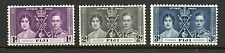 Fiji 1937 Coronation lightly mounted mint set stamps