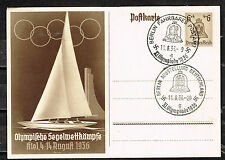 Germany Olympic Games Postcard 1936 rare openning Postmarks CV$40