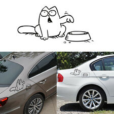 "1*Car Simon's Cat ""Feed Me"" Reflective Sticker Auto Body Vinyl Decal Window Cute"