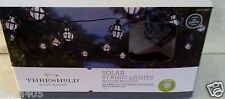 THRESHOLD 20 SOLAR BLACK METAL GLOBE STRING LIGHTS PATIO POOL RV FENCE PARTY
