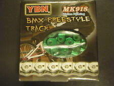 "GREEN YBN 1/2 Link BMX Chain 1/2"" x 1/8"" with 102 links  ""Strong BMX Chain"""