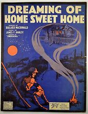 Dreaming Of Home Sweet Home WWI Military soldier Starmer Art 1918 Antique Music