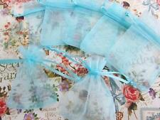 "100 Small Organza Gift Sachet Bag party favors 2.5""x3""/Craft/Light baby NO2-Blue"