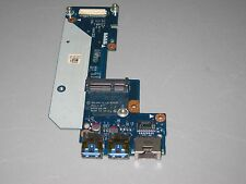 Dell Inspiron 7520 2 USB Ethernet LAN PCB Connector Board LS-8242P P/N N7JHH