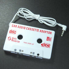 Weißes Auto Radio Adapter Kassette für CD MD MP3 Musik Player neu 1pc