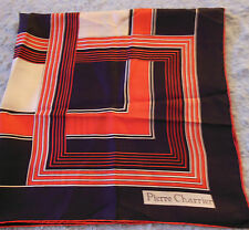 Pierre Charrier Vintage French Ladies Scarf Red, White & Blue VGC Free US Ship