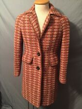 THE LIMITED *RARE* PINK/BROWN WOOL KNIT LONG WINTER COAT WOMENS SZ M NICE!!