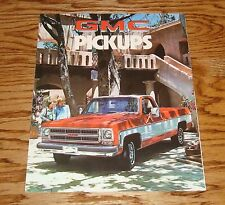 Original 1976 GMC Pickup Truck Sales Brochure 76 Sierra