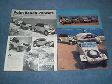 "1943 '44 VW Kubelwagen Schwimmwagen Vintage Article ""Palm Beach Panzers"""