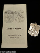 Catholic Holy Unity Home School Church Peace Medal Queen of the Holy Rosary