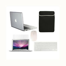 """5in1 Crystal CLEAR Case for Macbook PRO 13"""" + Keyboard Cover + LCD + Bag + Mouse"""