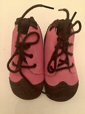 New Baby Girl Robeez Soft Soles Classic Boot Slip On Rose Suede 6-12M Pink Brown