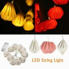 1M 10 LED Battery Operated Paper String Fairy Light Warm White Lmap Party Dec