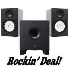 Yamaha HS8 Studio Monitor Speaker PAIR w/ HS8S Subwoofer HS-8 Hs-8s Sub Bundle