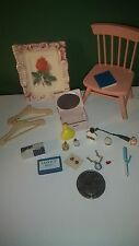 Miniatures Dollhouse Lot 18 Jewelry/Perfume Set Pink Chair